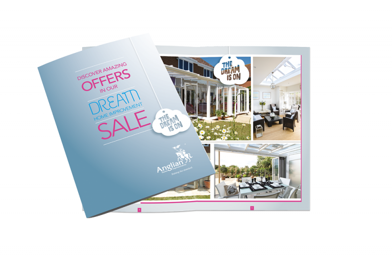 An image of Anglian Home Improvements Dream Sale door drop