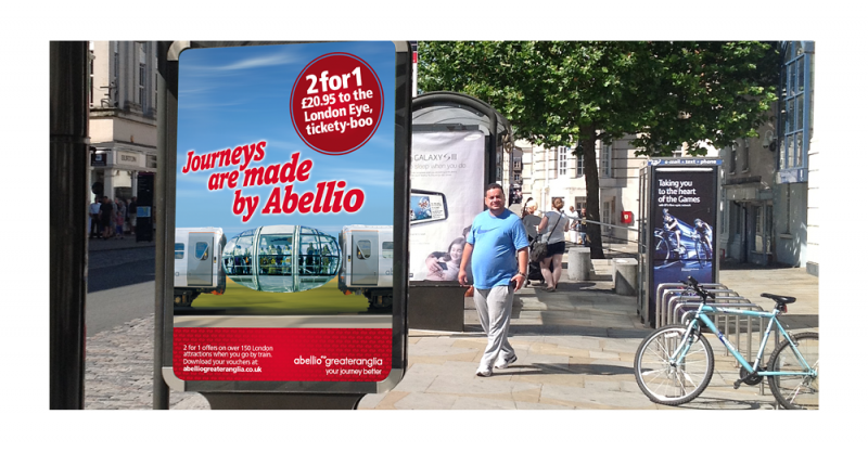 An image of an Abellio Greater Anglia 6 sheet advert