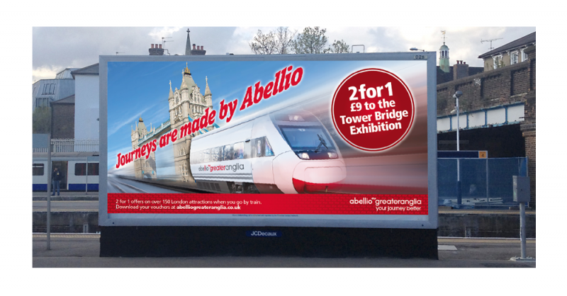 An image of an Abellio Greater Anglia 48 sheet advert