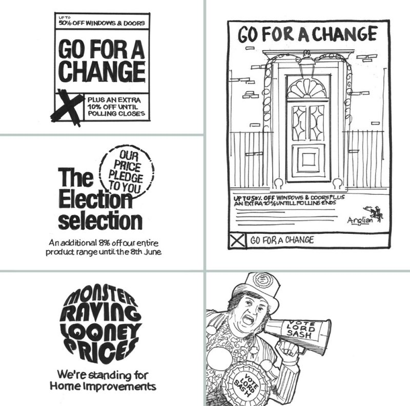Image of general election campaign concepts scamps