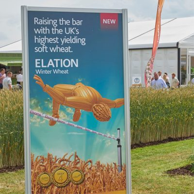 Image of monolith panel on Elsoms stand at Cereals 2018