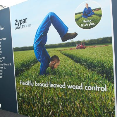 Image of Corteva Stand artwork at Cereals 2018