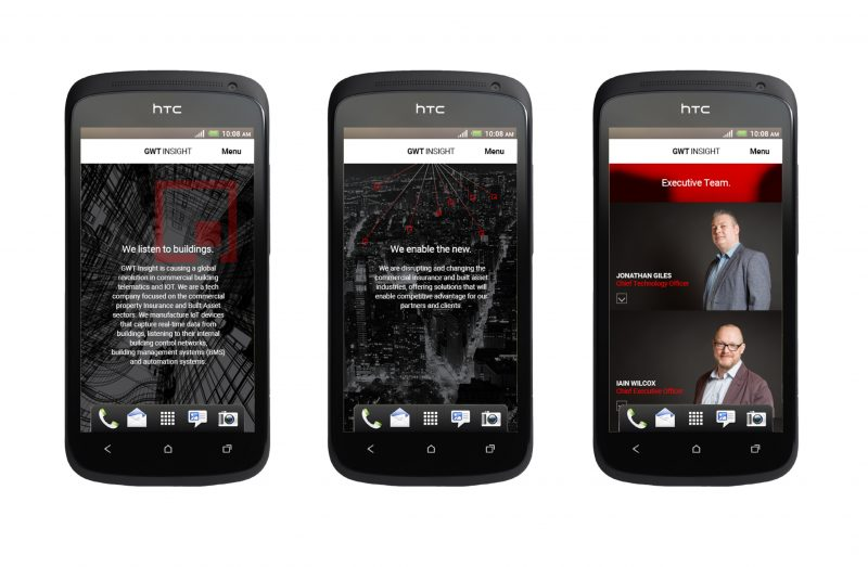 The GWT Insight mobile site