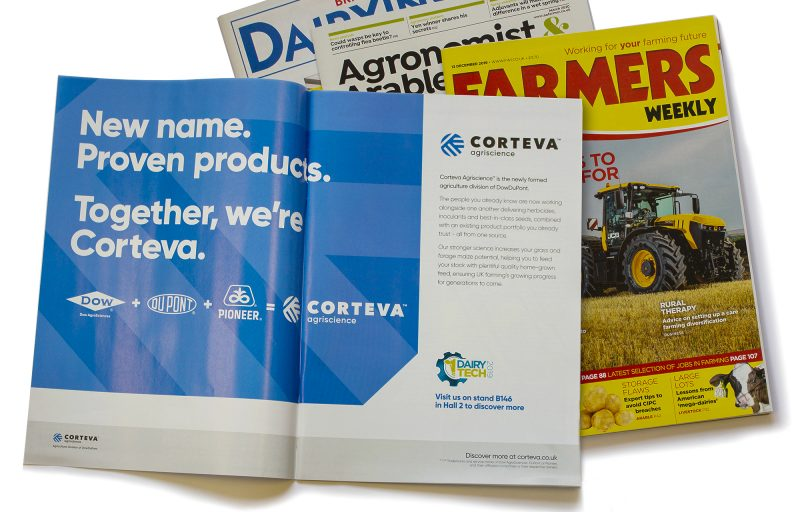 UK brand launch campaign in trade press advert