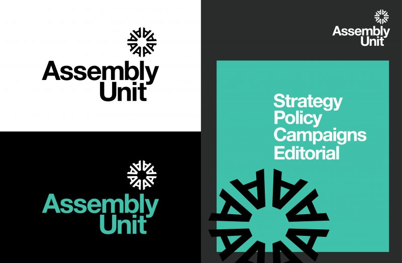 An image of the Assembly Unit - a new brand in UK politics