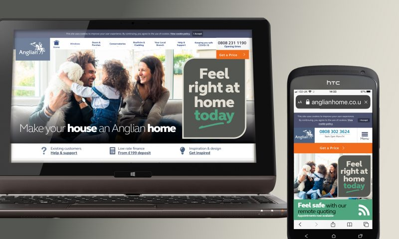Anglian Home Improvement Brand Response Campaign on website and phone