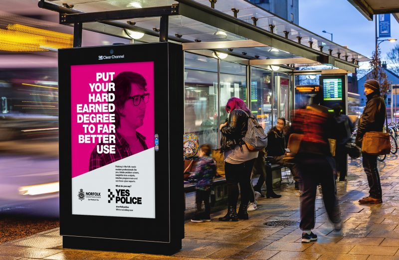 Norfolk and Suffolk Police Campaign Bus Shelter