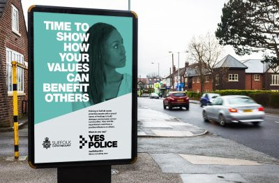 Norfolk and Suffolk Police Campaign 6 sheet site