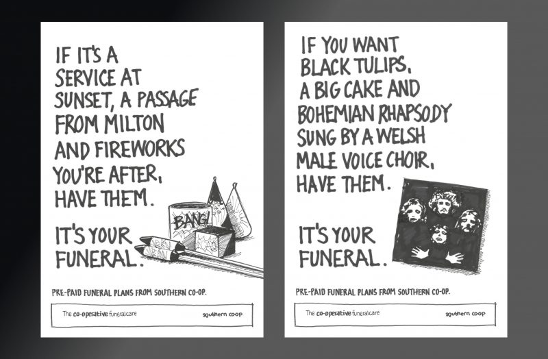 The Co-operative Funeralcare Funeral Plans Awareness Campaign Concepts