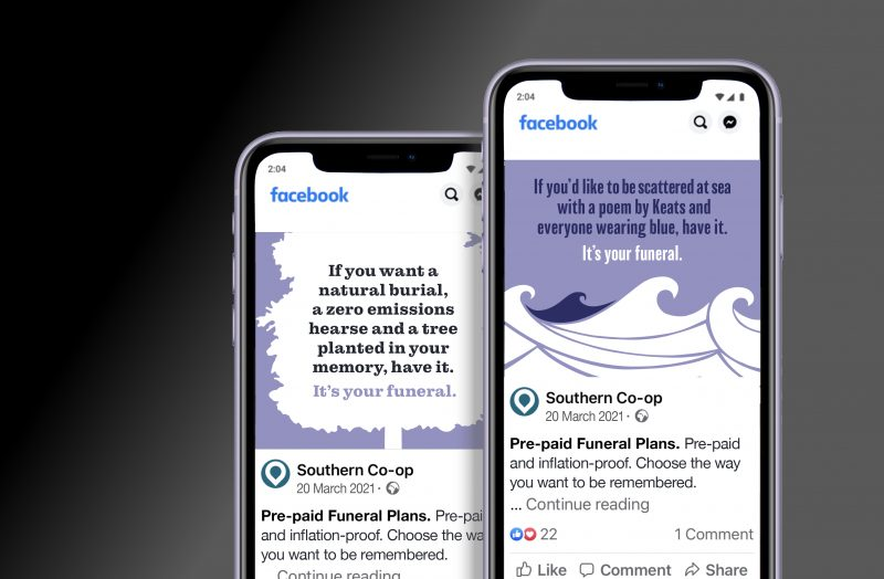 The Co-operative Funeralcare Funeral Plans Awareness Campaign Social Media