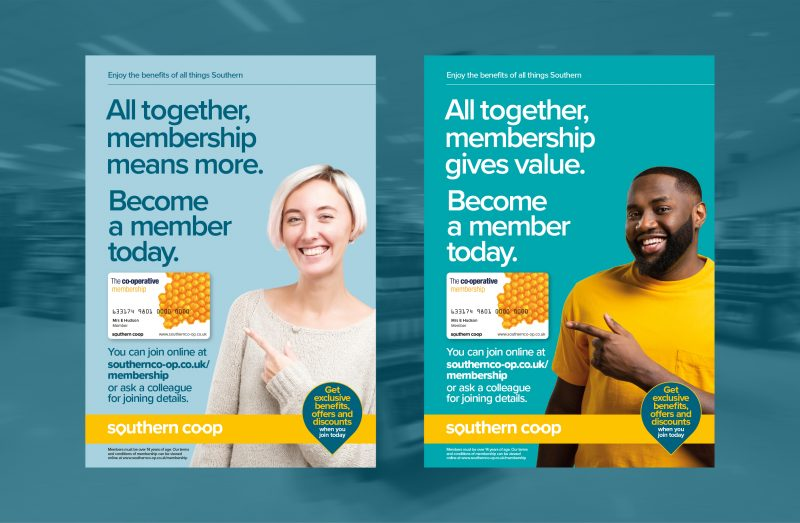 Southern Co-op Membership Campaign Posters